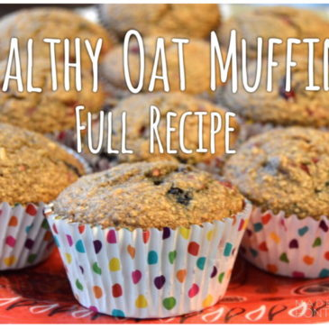 Healthy Oat Muffins with Berries