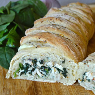 Cheesy Spinach & Chicken Loaf