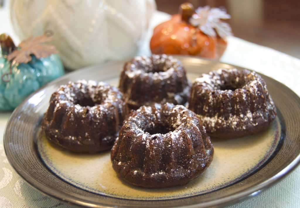 Bundt Cake Recipe, Chocolate Kahlua Mini Bundt Cakes