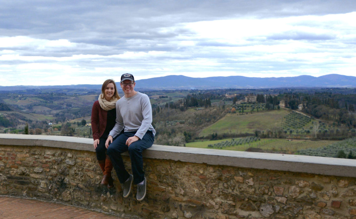 View from the walls of San Gimignano, Italy